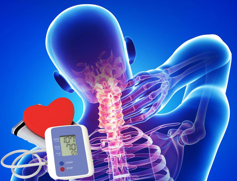 Gimdos kaklelio osteochondrozės hipertenzija
